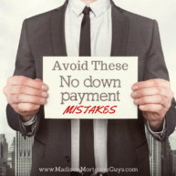 No Money Down Mortgage Mistakes