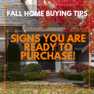 Fall Home Buying TIps